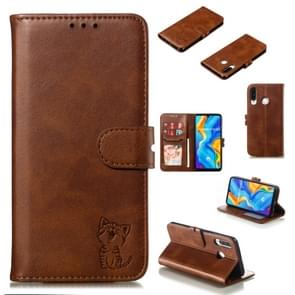 Leather Protective Case For Huawei P30 Lite(Brown)