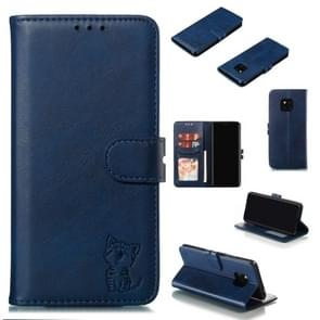 Leather Protective Case For Huawei Mate 20 Pro(Blue)