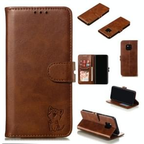 Leather Protective Case For Huawei Mate 20 Pro(Brown)