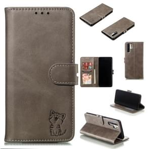 Leather Protective Case For Huawei P30 Pro(Gray)