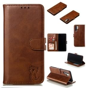 Leather Protective Case For Huawei P30 Pro(Brown)