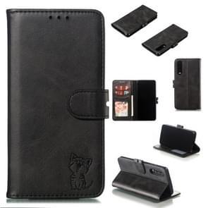 Lederen beschermhoes voor Huawei P30 (zwart)