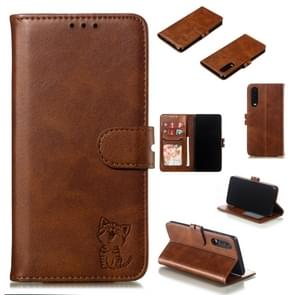 Leather Protective Case For Huawei P30(Brown)