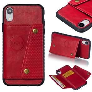 Lederen beschermhoes voor iPhone XR (rood)