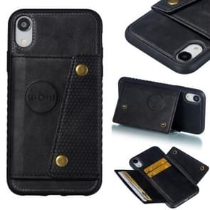 Leather Protective Case For iPhone XR(Black)