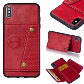Lederen beschermhoes voor iPhone XS Max (rood)