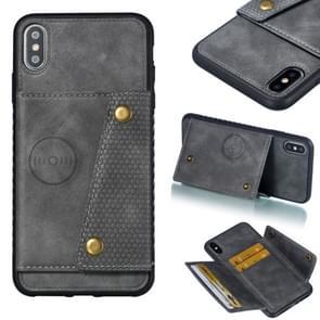 Lederen beschermhoes voor iPhone XS Max (grijs)