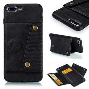 Leather Protective Case For iPhone 8 Plus & 7 Plus(Black)