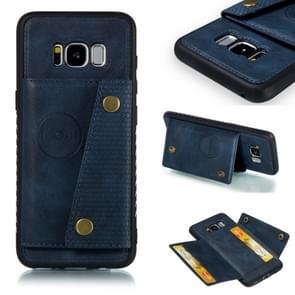 Leather Protective Case For Galaxy S8(Blue)