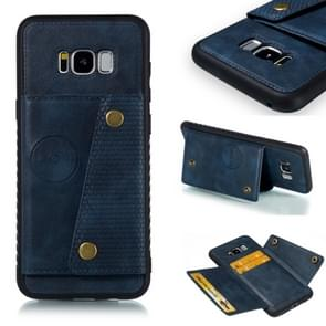 Leather Protective Case For Galaxy S8 Plus(Blue)