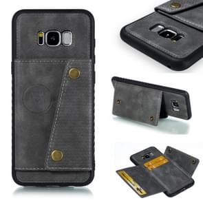Leather Protective Case For Galaxy S8 Plus(Gray)