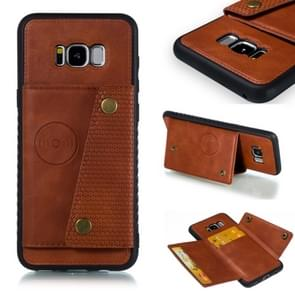 Leather Protective Case For Galaxy S8 Plus(Brown)