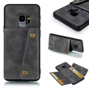 Leather Protective Case For Galaxy S9(Gray)