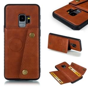 Leather Protective Case For Galaxy S9(Brown)