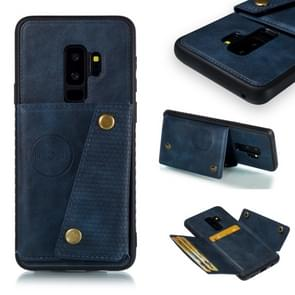 Leather Protective Case For Galaxy S9 Plus(Blue)