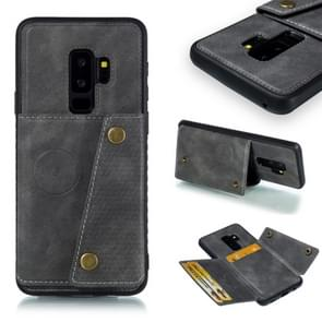 Leather Protective Case For Galaxy S9 Plus(Gray)