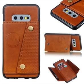 Leather Protective Case For Galaxy S10e(Brown)