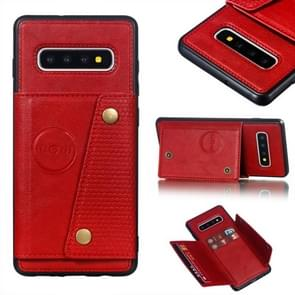 Leather Protective Case For Galaxy S10 Plus(Red)