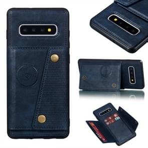Leather Protective Case For Galaxy S10 Plus(Blue)