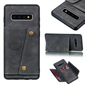 Lederen beschermhoes voor Galaxy S10 plus (grijs)
