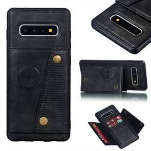 Leather Protective Case For Galaxy S10 Plus(Black)