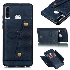 Leather Protective Case For Huawei P30 Lite(Blue)