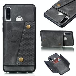Leather Protective Case For Huawei P30 Lite(Gray)