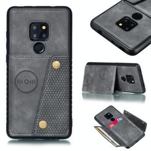 Lederen beschermhoes voor Huawei mate 20 (grijs)