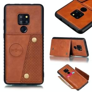 Leather Protective Case For Huawei Mate 20(Brown)