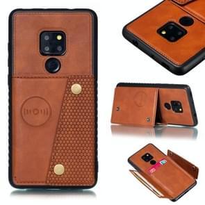 Lederen beschermhoes voor Huawei mate 20 (bruin)