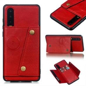 Lederen beschermhoes voor Huawei P30 (rood)