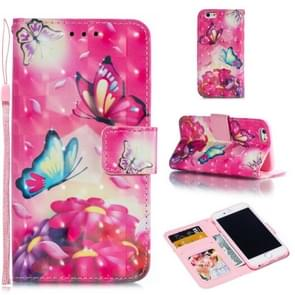 Leather Protective Case For iPhone 6 & 6s(Two Butterflies)