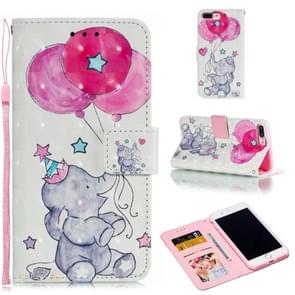 Leather Protective Case For iPhone 8 Plus & 7 Plus(Elephant balloons)
