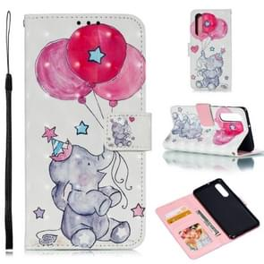 Leather Protective Case For Huawei P30(Elephant balloons)