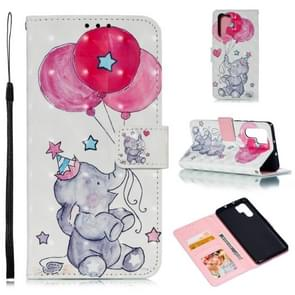 Leather Protective Case For Huawei P30 Pro(Elephant balloons)