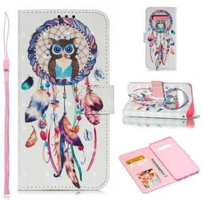 Leather Protective Case For Galaxy S10 Plus(White Windbell)