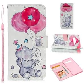 Leather Protective Case For Galaxy S10(Elephant balloons)