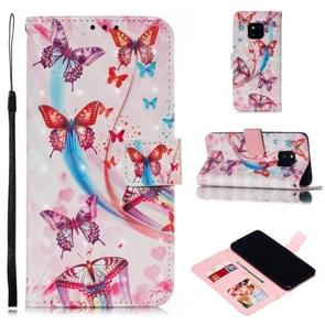 Leather Protective Case For Huawei Mate 20 Pro(Flying Butterflies)