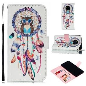 Leather Protective Case For Huawei Mate 20 Pro(White Windbell)