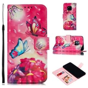 Leather Protective Case For Huawei Mate 20 Pro(Two Butterflies)