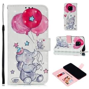 Leather Protective Case For Huawei Mate 20 Pro(Elephant balloons)