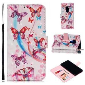 Lederen beschermhoes voor Huawei mate 20 (vliegende vlinders)