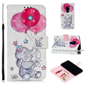 Leather Protective Case For Huawei Mate 20(Elephant balloons)
