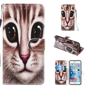 Leather Protective Case For iPhone 6 & 6s(Coffee Cat)