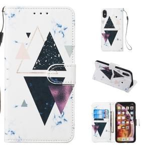 Lederen beschermhoes voor iPhone X & XS (trigonal Marble)