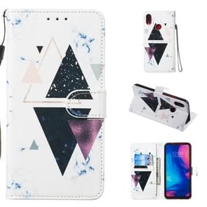 Leather Protective Case For Redmi Note 7(Trigonal Marble)