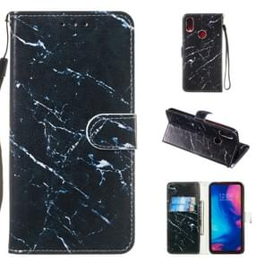 Leather Protective Case For Redmi Note 7(Black Marble)