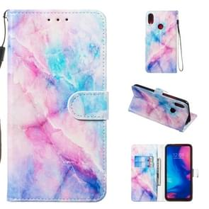 Leather Protective Case For Redmi Note 7(Blue Pink Marble)
