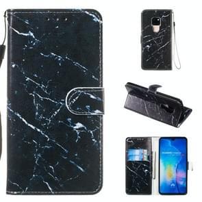 Lederen beschermhoes voor Huawei mate 20 (zwart marmer)