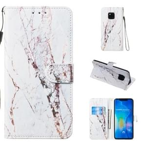 Leather Protective Case For Huawei Mate 20 Pro(White Marble)